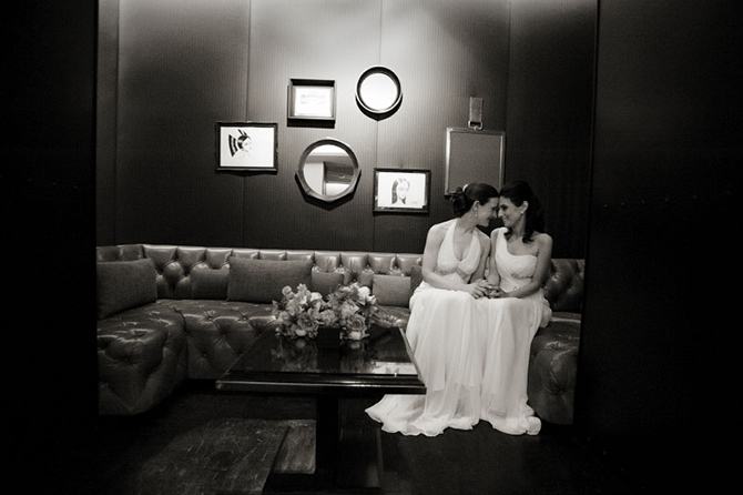 Two brides after the ceremony - Studio A Images