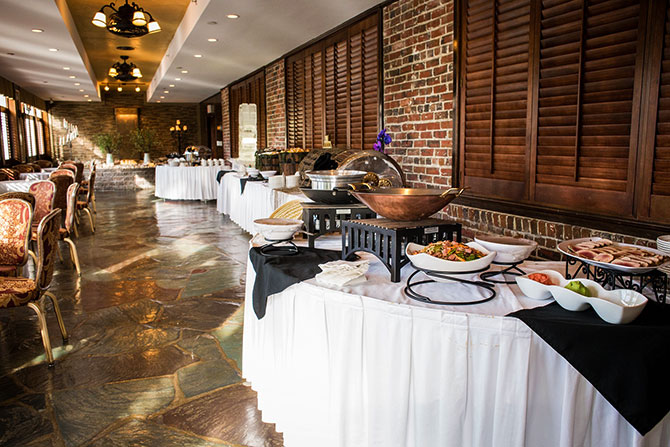 The Grand Summit Hotel - Buffet tables in renovated dining room