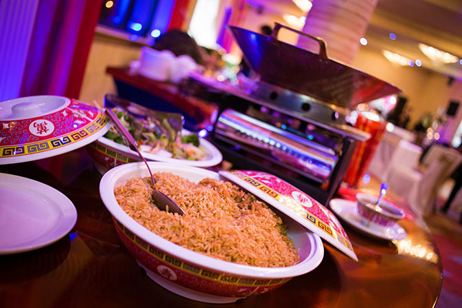 The Grand Summit Hotel - Buffet table with Asian cuisine
