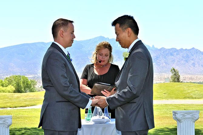 Ricci Photography New Mexico - Gay wedding ceremony