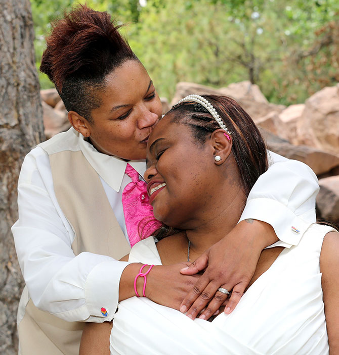Ricci Photography New Mexico - Lesbian brides intimate portrait