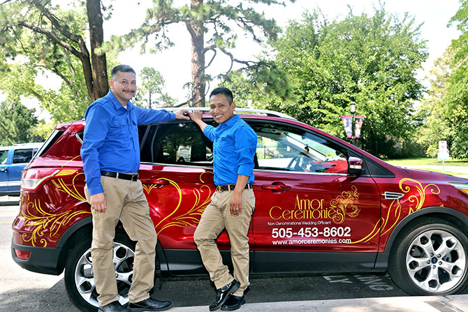 Ricci Photography New Mexico -Gay couple company vehicle