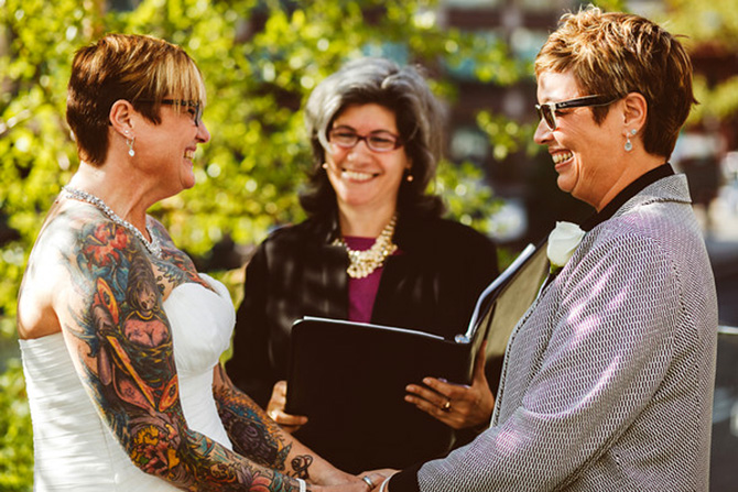 Alice Soloway Weddings - Lesbian wedding ceremony