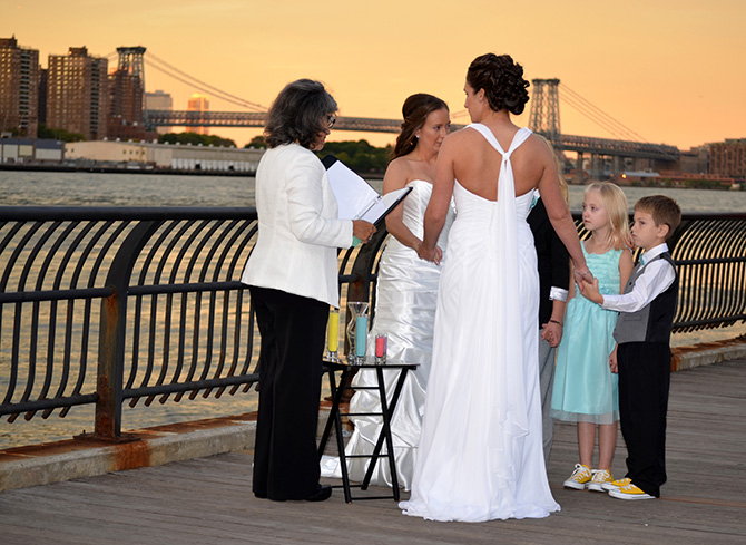 Alice Soloway Weddings - Same-sex wedding ceremony with children