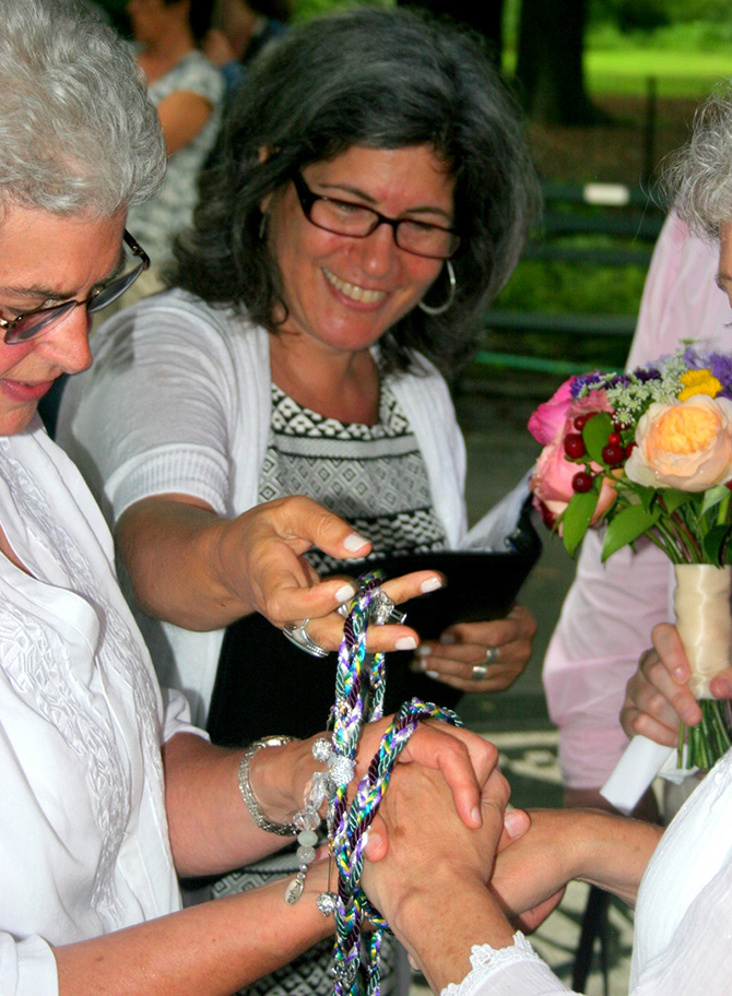 Handfasting Ceremony - Alice Soloway Weddings - Brooklyn, New York City