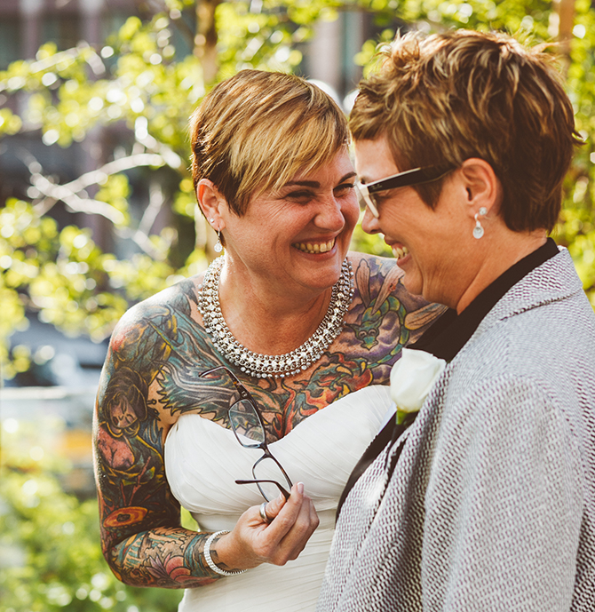 NY Same-Sex Marriage Ceremony - Alice Soloway Weddings - Brooklyn, New York City