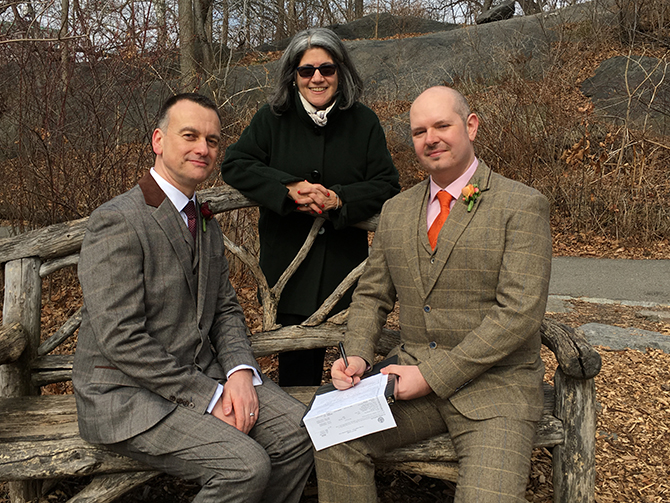 LGBT Marriage Ceremony NY - Alice Soloway Weddings - Brooklyn, New York City