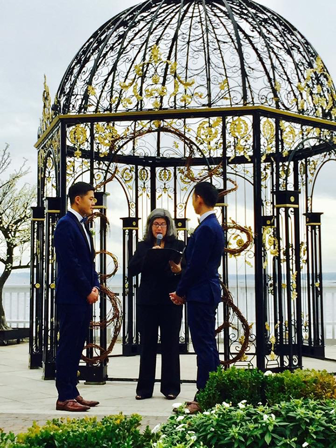 NY Same-Sex Wedding Ceremony - Alice Soloway Weddings - Brooklyn, New York City