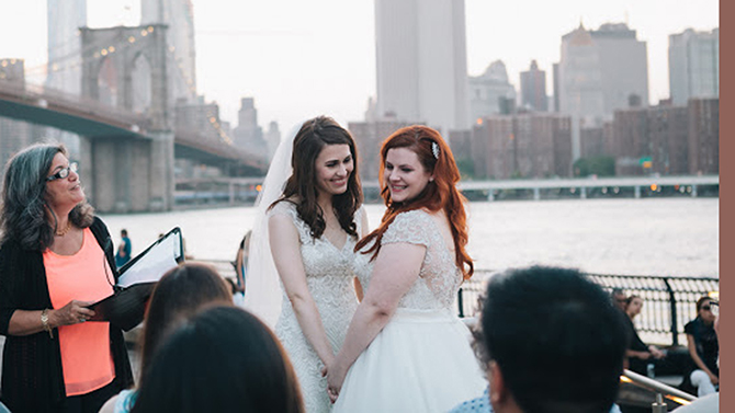 NY Lesbian Wedding - Alice Soloway Weddings - Brooklyn, New York City