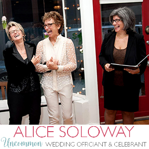 NYC LGBT Marriage Officiant - Alice Soloway Weddings - Brooklyn, New York City