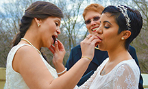 Art Of The Ceremony Manhattan New York Lesbbians Sharing Chocolates In Ceremony