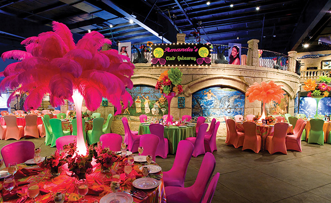 Atlantis Banquets and Events - Amanda's Club Getaway Reception Theme