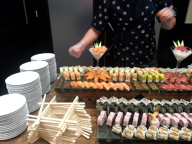 Sushi Buffet - Atlantis Banquets and Events - Long Island, New York LGBT Wedding Receptions