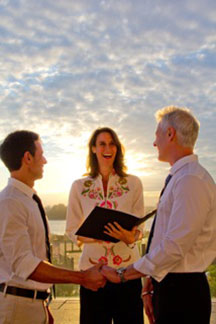 Outdoor wedding ceremony via Jester of the Peace