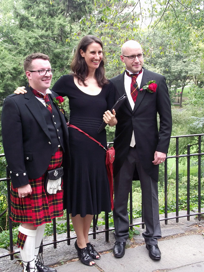 Scottish themed wedding performed by Jester of the Peace