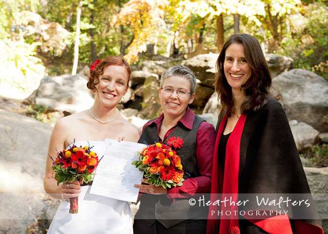 NYC Central Park wedding performed by Jester of the Peace