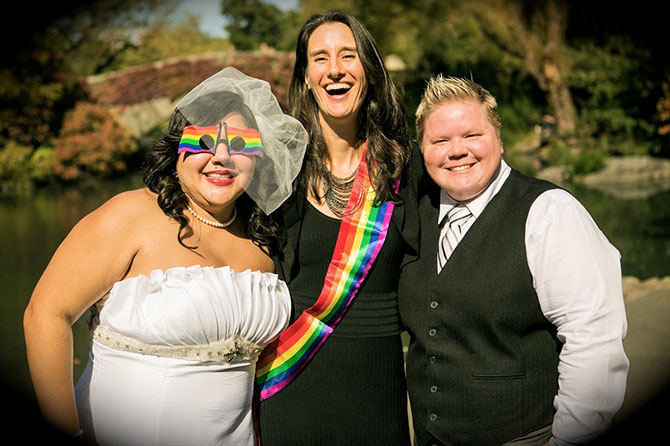LGBT Wedding Ceremony Performed by Barbara Ann Michaels Jester of the Peace