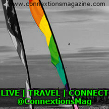Connextions Magazine - USA and Rainbow Flag