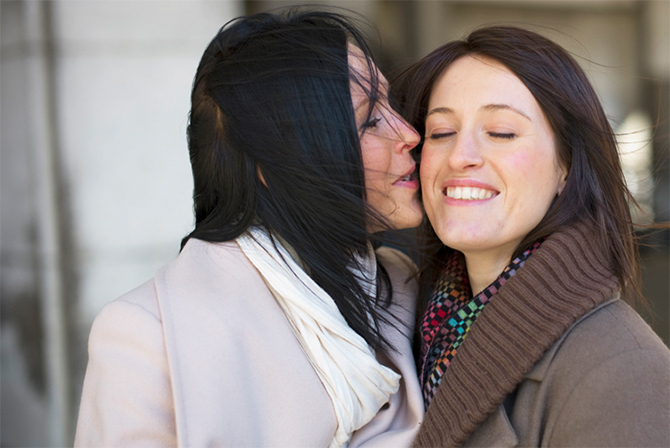 Matthew Knip Photography - Lesbian Couple Kisses & Smiles