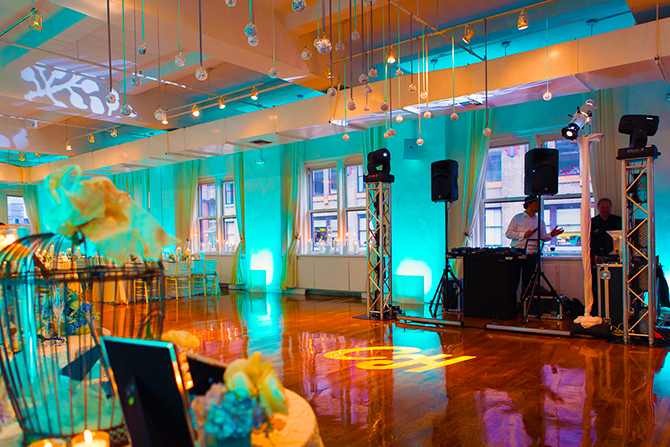 Midtown Loft & Terrace - GOBO's and Uplighting Reception Venue