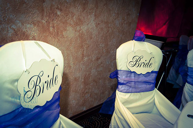 Bride and Bride Wedding Seating Sweetheart Table - Officiant Long Island