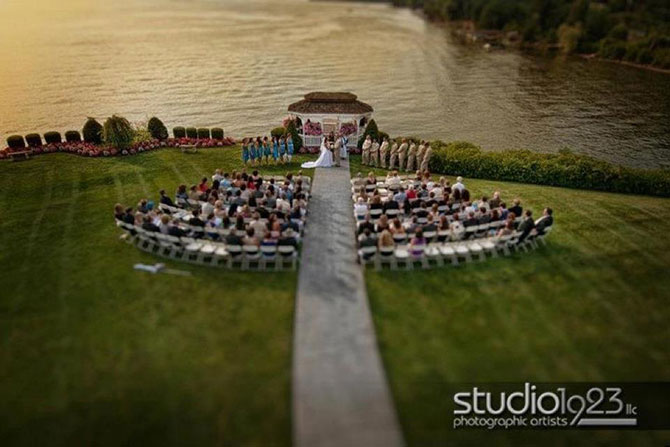 Gorgeous outdoor wedding ceremony by the bay - Officiant Long Island