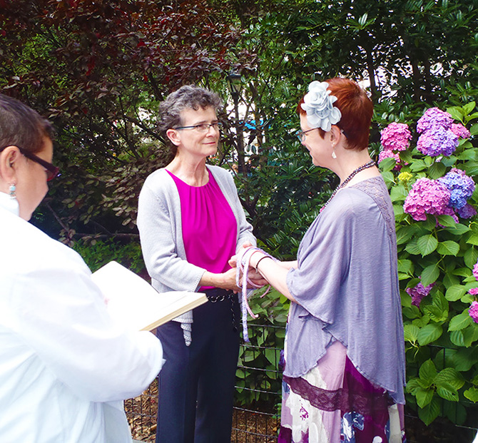 LGBT Wedding Ceremony performed by Reverend Luisa Porrata in New York City