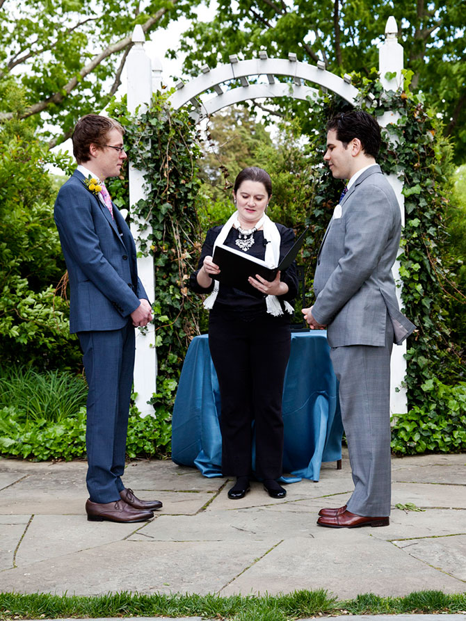 Lasting Footprints Reverend Sarah Margaret - Marriage officiant and reverend performing  Gay wedding ceremony