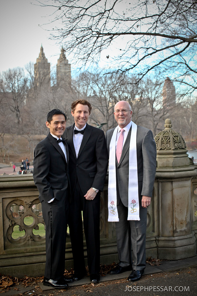 Central Park New York City LGBT Wedding Reverend Will Mercer