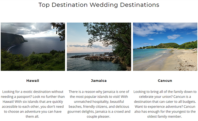 Top Wedding Travel Destinations  - Something Blue Travels - LGBT Destination Wedding Travel Agent