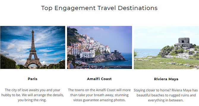 Top Engagement Travel Destinations - Something Blue Travels - LGBT Destination Wedding Travel Agent