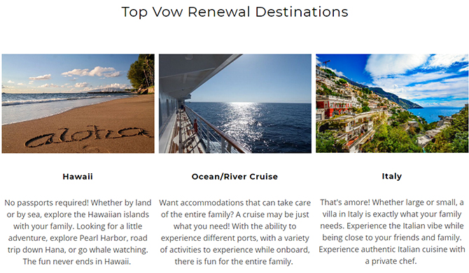 Top Vow Renewal Travel Destinations - Something Blue Travels - LGBT Destination Wedding Travel Agent