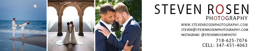 New York Same-Sex Wedding Photos by Steven Rosen Photography in New York City