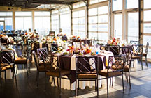 Sunset Terrace at Chelsea Piers - outdoor wedding reception