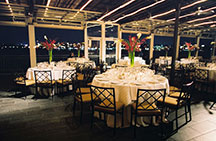 Sunset Terrace at Chelsea Piers - classic ivory wedding reception