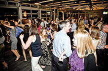 Sunset Terrace at Chelsea Piers wedding reception dance party
