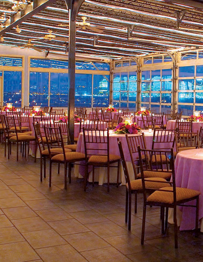 Sunset Terrace at Chelsea Piers - radiant orchid wedding reception