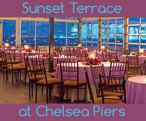 Sunset Terrace at Chelsea Piers Gay Wedding Reception Venue in NYC