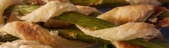 Asparagus and puff pastry Kitty Hawk, NC - Dawn's Kitchen Catering