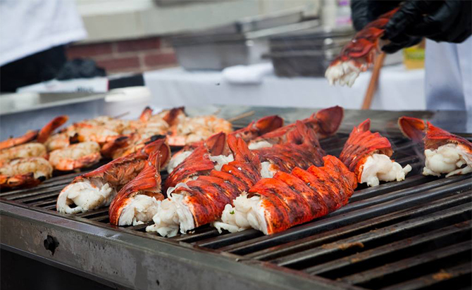 Fresh lobster on the grill Outer Banks, NC - Dawn's Kitchen Catering