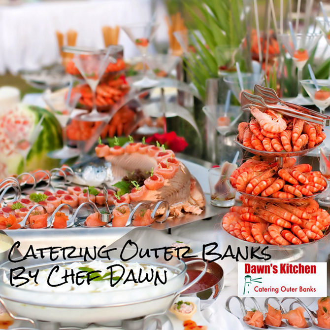 Fresh seafood tower Outer Banks, North Carolina - Dawn's Kitchen Catering