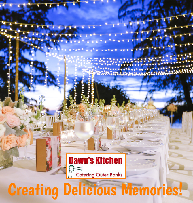 Full service wedding caterer Kill Devil Hills, NC - Dawn's Kitchen Catering