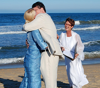 Rev. Tanya Young Outer Banks Weddings - Married couple
