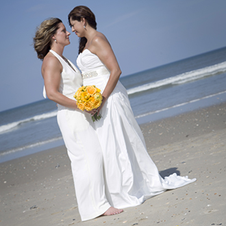 Rev. Tanya Young Outer Banks Weddings - Lesbian Wedding Ceremony