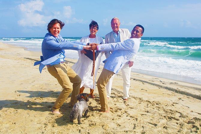 Rev. Tanya Young Outer Banks Weddings - Gay couple on the beach