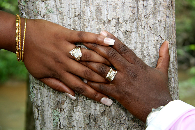Rev. Victoria Hutchins - Brides hands and wedding rings