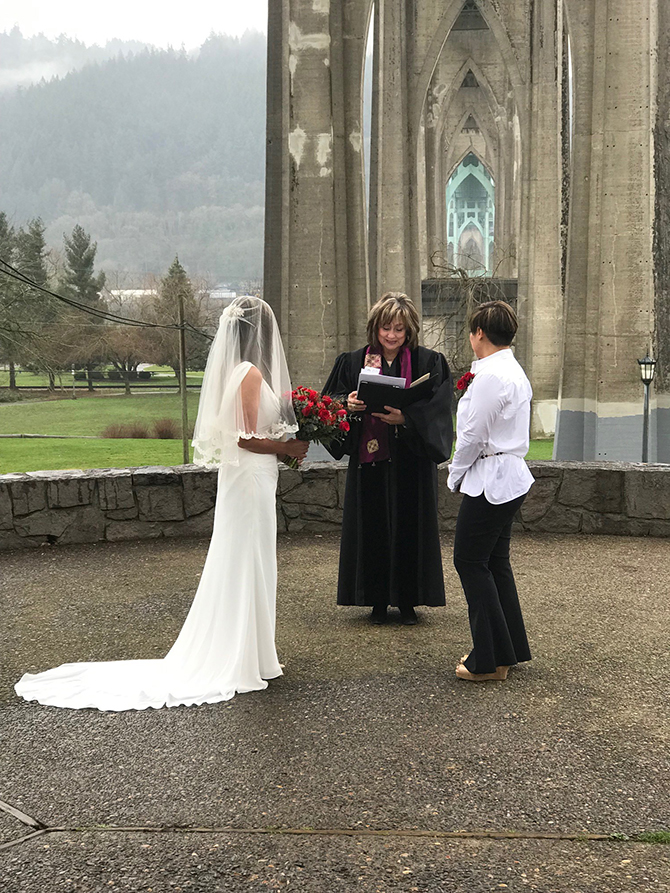 Oregon Lesbian Wedding Ceremony Cathedral - Diva Matters Ministry
