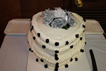 Reverend Kathleen heart shaped wedding cake