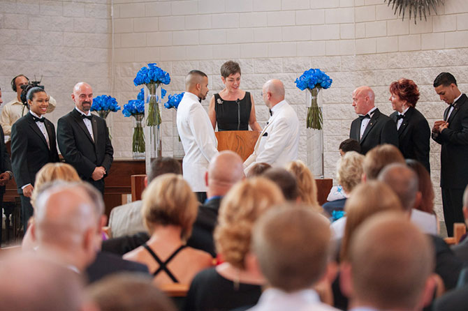 Reverend Kathleen performing lgbt marriage ceremony in Pennsylvania