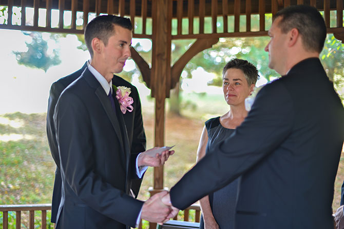 Reverend Kathleen performs same-sex marriage ceremonies in Exton, Pennsylvania